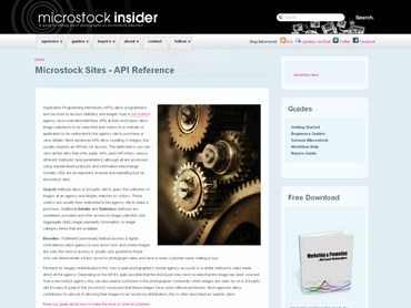 Microstock APIs Overview